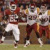 OU\'s Roy Finch runs during the first half of the college football game between the University of Oklahoma Sooners (OU) and the Iowa State Cyclones (ISU) at the Glaylord Family-Oklahoma Memorial Stadium on Saturday, Oct. 16, 2010, in Norman, Okla. Photo by Bryan Terry, The Oklahoman