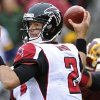 Photo -   Atlanta Falcons quarterback Matt Ryan passes during the second half of an NFL football game against the Washington Redskins in Landover, Md., Sunday, Oct. 7, 2012. (AP Photo/Susan Walsh)