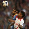 Photo - Crystal Palace's Adrian Mariappa, left , vies for the ball with Liverpool's Raheem Sterling during their English Premier League soccer match between Crystal Palace and Liverpool at Selhurst Park stadium in London, Monday, May 5, 2014. (AP Photo/Alastair Grant)