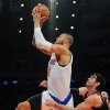 New York Knicks\' Tyson Chandler, left, is fouled by Chicago Bulls\' Kirk Hinrich during the first quarter of an NBA basketball game Friday, Jan. 11, 2013, at Madison Square Garden in New York. (AP Photo/Bill Kostroun)