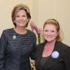WINE RECEPTION...Marion Paden and Meg Salyer were at the reception honoring Paden who will be President of the Rotary Club of Oklahoma City in 2012. Salyer had the party for Women of the Rotary Club in her office. (Photo by David Faytinger).