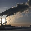 A smoke of heating plant is seen on a winter\'s morning in Minsk, Belarus, Wednesday, Jan. 23, 2013, as temperatures of minus 14 degree Celsius (minus 6.8 degree Fahrenheit) hit the Belarusian capital. (AP Photo/Sergei Grits)