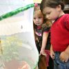 BUTTERFLY: Reagan Oltmanns, left, 3, and John Moss, 3, pose with butterflies at First Christian Church in Yukon on Tuesday, April 7, 2009. The church hopes to release the butterflies on Easter Sunday. Photo by John Clanton, The Oklahoman ORG XMIT: KOD