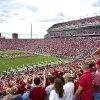 NORMAN, 9/30/2003, FAN, FANS, EXPANSION, RENOVATION: A capacity crowd is on hand to watch the University of Oklahoma Sooners host North Texas University for their season opener in the expanded and renovated Gaylord Family - Oklahoma Memorial Stadium. An upper deck was added to the east side of the stadium. This photo was taken in the south end zone seating. Staff photo by Jim Beckel, The Oklahoman