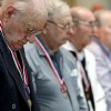 Jacques DeLier (left) of Oklahoma City, joins other veterans during a ceremony to present veterans with medals they earned, but were not previously given at the Oklahoma History Center in Oklahoma City on Wednesday, May 27, 2009. Photo by John Clanton, The Oklahoman