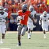 Oklahoma State\'s Joseph Randle (1) gets by the Baylor defense during a college football game between the Oklahoma State University Cowboys (OSU) and the Baylor University Bears (BU) at Boone Pickens Stadium in Stillwater, Okla., Saturday, Oct. 29, 2011. Photo by Sarah Phipps, The Oklahoman