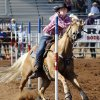 Kaitlin Peterson, Sturgis, SD, competes in the pole bending on day 4 of the International Finals Youth Rodeo on Wednesday, July 10, 2013 in Shawnee, Okla. Photo by Steve Sisney, The Oklahoman