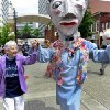 Activist Sister Megan Rice attends a rally by supporters before her trial with fellow anti-nuclear weapons activists Michael Walli, 64, and Greg Boertje-Obed, 56, on Monday, May 6, 2013, in Knoxville, Tenn. The activists, who call themselves