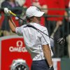 Europe\'s Rory McIlroy stretches on the first tee before a singles match at the Ryder Cup PGA golf tournament Sunday, Sept. 30, 2012, at the Medinah Country Club in Medinah, Ill. (AP Photo/Charles Rex Arbogast) ORG XMIT: PGA107