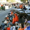 OSU fans watch the Oklahoma State Cowboy\'s homecoming parade in downtown Stillwater, OK, Saturday, Oct. 29, 2011. By Paul Hellstern, The Oklahoman