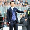 Photo - Fiorentina coach Vincenzo Montella watches a Serie A soccer match between Juventus and Fiorentina at the Juventus stadium, in Turin, Italy, Sunday, March 9, 2014. (AP Photo/Massimo Pinca)
