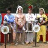 Photo - Zach Childers, Fred Traylor , Eagle Chapter Chief Jonah Moore, Mitch Pace, Ethan Lang, from Duncan,and Seth Truitt appear in Order of the Arrow regalia at Fall Ordeal at Slippery Falls. Those pictured are from the Eagle Chapter of the Order of the Arrow, except for Lang, of Duncan. PHOTO PROVIDED BY MARK DOIRON  Mark Doiron - Provided
