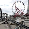 The Fun Town Pier in Seaside Heights, N.J. was heavily damaged by superstorm Sandy. (Photo by David Gard/The Star-Ledger, POOL)