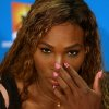 Photo - Serena Williams of the United States gestures during a press conference ahead of the Australian Open tennis championship in Melbourne, Australia, Saturday, Jan. 11, 2014. (AP Photo/Aaron Favila)