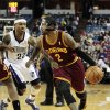 Cleveland Cavaliers guard Kyrie Irving (2) drives against Sacramento Kings guard Isaiah Thomas during the first quarter of an NBA basketball game in Sacramento, Calif., Monday, Jan. 14, 2013. (AP Photo/Rich Pedroncelli)