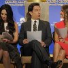 Presenters Ed Helms, center, and Jessica Alba, right, mingle as fellow presenter Megan Fox studies her script before the announcement of nominations for the 70th Annual Golden Globe Awards, Thursday, Dec. 13, 2012, in Beverly Hills, Calif. The Golden Globe Awards will be held on Sunday, Jan. 13 at the Beverly Hilton Hotel in Beverly Hills. (Photo by Chris Pizzello/Invision/AP)
