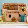This pueblo gingerbread house form
