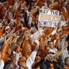 Texas fans celebrate after the college football game between the Oklahoma State University Cowboys (OSU) and the University of Texas Longhorns (UT) at Boone Pickens Stadium in Stillwater, Okla., Saturday, Oct. 31, 2009. Texas won, 41-14. Photo by Nate Billings, The Oklahoman