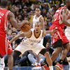 Oklahoma City \'s Eric Maynor (6) defends on Houston\'s Toney Douglas (15) during the NBA basketball game between the Houston Rockets and the Oklahoma City Thunder at the Chesapeake Energy Arena on Wednesday, Nov. 28, 2012, in Oklahoma City, Okla. Photo by Chris Landsberger, The Oklahoman