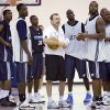 Coach P.J. Carlesimo of the Oklahoma City Thunder talks to his team during the second day of the Oklahoma City Thunder practice on Wednesday, Oct. 1, 2008, in Edmond, Okla. CHRIS LANDSBERGER, THE OKLAHOMAN
