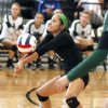 GIRLS HIGH SCHOOL VOLLEYBALL / MOUNT ST. MARY\'S: Catoosa\'s Yesenia Velasquez volleys the ball during the first round of the Class 4A state volleyball tournament between Mt. St. Mary\'s High School and Catoosa High School at Westmoore High School in Moore, OK, Friday, October 11, 2013, Photo by Paul Hellstern, The Oklahoman