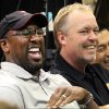 FILE - This July 11, 2012 file photo shows Los Angeles Lakers head coach Mike Brown, left, and owner Jim Buss laughing during a news conference at the basketball team\'s headquarters in El Segundo, Calif. A report from USA Today says the Lakers have fired Brown after a 1-4 start to his second season in charge of the team. The newspaper report Friday, Nov. 9, 2012 cited Brown\'s agent, Warren Legarie, as the source of the information. (AP Photo/Reed Saxon, file)