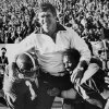 Winning a share of the Big 8 title Nov. 21, 1976: Oklahoma State University (OSU) football coach Jim Stanley