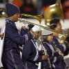 The Star Spencer band performs during the Class 4A high school football state championship game between Star Spencer and Douglass at Boone Pickens Stadium in Stillwater, Okla., Saturday, December 5, 2009. Photo by Nate Billings, The Oklahoman