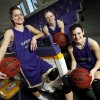 From left, Okarche High School girls basketball players Rae Grellner, 16, Madi Grellner, 17, Kenadey Grellner, 15, pose for a photo in the school\'s gym in Okarche, Okla., Wednesday, Feb. 27, 2013. The three players are cousins and part of a huge Okarche basketball family. Photo by Nate Billings, The Oklahoman