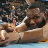 Photo - Charlotte Bobcats center Al Jefferson jokes with photographers as he is stretched before facing the Denver Nuggets in the first quarter of an NBA basketball game in Denver on Wednesday, Jan. 29, 2014. (AP Photo/David Zalubowski)