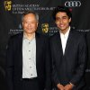Director Ang Lee, left, and actor Suraj Sharma arrive at the BAFTA Awards Season Tea Party at The Four Seasons Hotel on Saturday, Jan. 12, 2013, in Los Angeles. (Photo by Matt Sayles/Invision/AP)