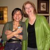 WEDDING SHOWER....Denise Duong and Jane Crain share a laugh. (Photo by Helen Ford Wallace).