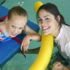 Camp ClapHans Swimming Hole. Summer day camper Abby Root (left) relaxes in the warm, soothing waters of the therapy pool at the J. D. McCarty Center in Norman where Camp Claphans summer day camp kicked off it's first session of the summer. Swimming with Root is camp volunteer Holly Thomas. Camp ClapHans will conduct four more week long day camp sessions this summer. For more information about Camp ClapHans contact Sarah Michner at 573.5338 or e-mail her at smichner@jdmc.org. Community Photo By: Greg Gaston Submitted By: Greg,