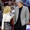 OU head coach Sherri Coale and OSU head coach Kurt Budke talk before the Bedlam women\'s college basketball game between Oklahoma State University and University of Oklahoma at the Lloyd Noble Center in Norman, Okla., Saturday, February 28, 2009. BY NATE BILLINGS, THE OKLAHOMAN