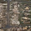 Aerial view of homes hit by a massive tornado between SW4th and SW 19th in Moore, Monday May 20, 2013. Photo By Steve Gooch, The Oklahoman