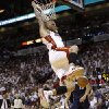 Photo - Miami Heat's Chris Andersen dunks during the first half in Game 2 of an opening-round NBA basketball playoff series against the Charlotte Bobcats, Wednesday, April 23, 2014, in Miami. (AP Photo/Lynne Sladky)