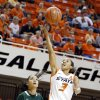 Oklahoma State\'s Tiffany Bias (3) shoots a lay up in front of Cal Poly\'s Ariana Elegado (5) during the women\'s college basketball game between Oklahoma State and Cal Poly at Gallagher-Iba Arena in Stillwater, Okla., Friday, Nov. 9, 2012. Photo by Sarah Phipps, The Oklahoman