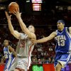 Blake Griffin of OU grabs a pass between Rod Earls, left, and Jerome Jordan of Tulsa during the college basketball game between the University of Oklahoma and Tulsa at the Lloyd Noble Center in Norman, Okla., Wednesday, Dec., 5, 2007. By Bryan Terry, The Oklahoman
