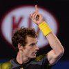 Photo - Britain's Andy Murray gestures for a video replay of a line call during his men's semifinal against Switzerland's Roger Federer at the Australian Open tennis championship in Melbourne, Australia, Friday, Jan. 25, 2013. (AP Photo/Andrew Brownbill)