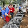 Philip Dillow bakes various types of breads in Dutch ovens during school day of the Oklahoma Wildlife Expo at the Lazy E Arena and Ranch in Guthrie, OK, Friday, September 28, 2012, By Paul Hellstern, The Oklahoman