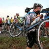Cyclists get into position for the 100K ride during the Oklahoma Bicycle Society Streak, a bike ride through Edmond that started at Mitch Park in Edmond on Sunday, Sept. 12, 2010. Photo by John Clanton, The Oklahoman