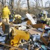 Lone Grove firemen search a home for unaccounted people on the north side of SH 70 in Lone Grove, Wednesday, Feb. 11, 2009. BY PAUL B. SOUTHERLAND, THE OKLAHOMAN