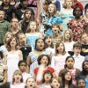 Fourth- and fifth-graders from the Midwest City-Del City School District participate in the 57th Annual Elementary Vocal Music Festival at Carl Albert High School in Midwest City. OKLAHOMAN ARCHIVE PHOTO