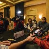 Alabama quarterback AJ McCarron talks with the media during an NCAA college football news conference, Sunday, Dec. 29, 2013, at the New Orleans Marriott Conventions Center in New Orleans. Alabama plays Oklahoma in the Sugar Bowl on Thursday, Jan. 2, 2014.(AP Photo/AL.com Vasha Hunt) MAGS OUT