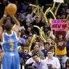 Photo - Oklahoma City fans shout as Chris Paul of New Orleans shoots a free throw during the NBA basketball game between the Oklahoma City Thunder and the New Orleans Hornets at the Ford Center in Oklahoma City, Wednesday, January 6, 2009. Photo by Bryan Terry, The Oklahoman ORG XMIT: KOD