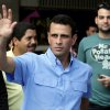 Miranda\'s Gov. Henrique Capriles waves to supporters after casting his ballot at a polling station in Caracas, Venezuela, Sunday, Dec. 16, 2012. Venezuelans are choosing governors and state lawmakers in elections that have become a key test of whether President Hugo Chavez\'s movement can endure if the socialist leader leaves the political stage. (AP Photo/Fernando Llano)