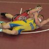 Carl Albert\'s Kyle Croak, top, wrestles Pryor\'s Jake Gibson at the Class 5A East Wrestling Regionals. PHOTO PROVIDED