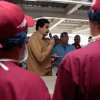 In this photo released by Miraflores Press Office, Venezuela\'s Vice President Nicolas Maduro, center, speaks to students during the inauguration of a school in Barinas, Venezuela, Friday, Jan. 18, 2013. Venezuela\'s vice president stepped into the shoes of ailing President Hugo Chavez in a flurry of public events Friday, working to maintain an image of government continuity after more than five weeks of unprecedented silence from the normally garrulous president. (AP Photo/Miraflores Press Office)