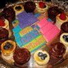 There were also brownies, fruit tarts and colorful, iced birthday cake cookies. (Photo by Helen Ford Wallace).