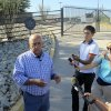 Nogales, Ariz., Mayor Arturo Garino speaks to the media outside the gate of the U.S. Border Patrol facility on Saturday, June 7, 2014, in Nogales, Ariz. Arizona officials said they are rushing federal supplies to this makeshift holding center in the southern part of the state that\'s housing hundreds of migrant children and is running low on the basics. (AP Photo/Brian Skoloff)